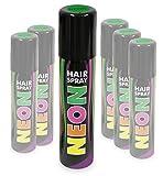 KarnevalsTeufel Hairspray Neon in knalligen Farben buntes Haarspray Haarschmuck farbig (Neon Grün)