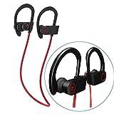 Bluetooth Headphones Gym Sport, Wireless In ear Earphones - IPX5 Handsfree Earbuds Lightweight