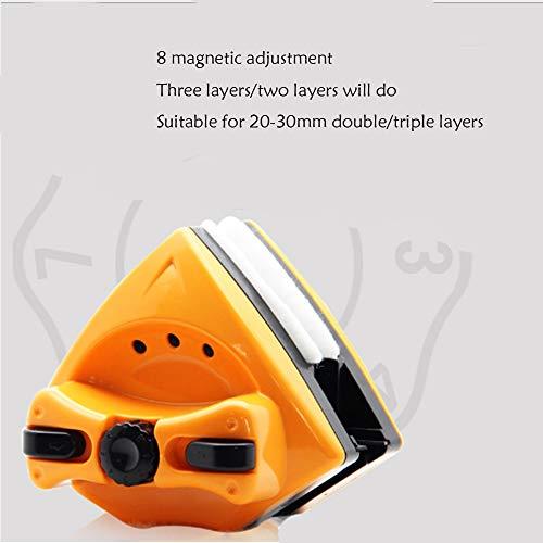 QMKJ 8-Block-Magnetverstellung Wischglas Sicherheitsstopfen verhindern das Festklemmen der Hand für verglaste Hochhausfenster mit 20 bis 30 mm (20-fuß-gewächshaus)