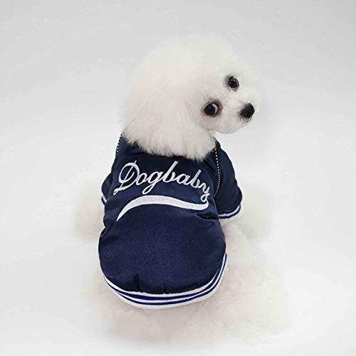 banbie8409 Winter Brief Stickerei Hunde-Bekleidung Haustier Baseball Coats weiche Baumwoll Puppies Hunde-Bekleidung weiche Kostüme Jacke Bekleidung für Hund