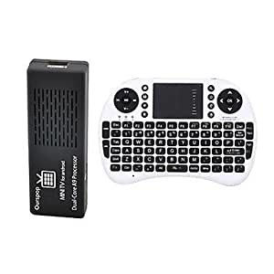 Ourspop MK808B + Rii I8 Air Mouse Dual-Core Android 4.2.2 Mini PC Google TV Player 1 Go de RAM 8 Go ROM