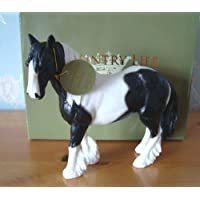 Lesser and Pavey 17cm Cob Horse Figurine, Black/White