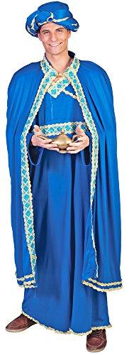 Für Kostüme Erwachsene Heiligen (Heilige drei Könige Kostüm Baltasar Blau - Tolles arabisches Kostüm für)