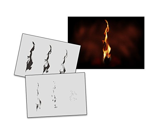 UMR-Design AS-271 Flame Airbrushschablone Step by Step Grösse S -