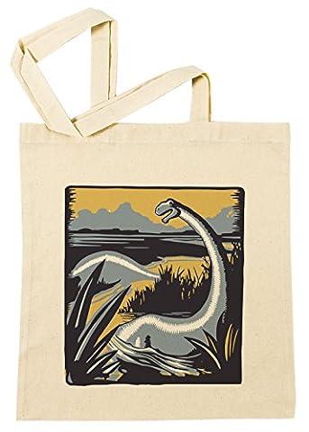 Loch Ness Monstre Sac à Provisions Plage Coton Réutilisable Shopping Bag Beach Reusable