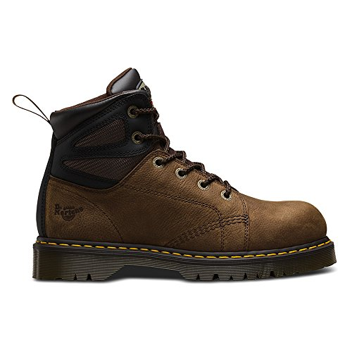 Dr Martens Mens Fairleigh ST6 eye Lace up Slip Resistant Safety Boots Braun