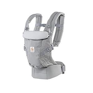 41tbGsvN%2BlL. SS300  - Ergobaby Mochila Portabebés Ergonomicas para Recién Nacido a 20kg, Adapt 3-Posiciones (Gris)