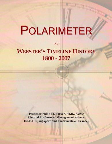 Polarimeter: Webster's Timeline History, 1800-2007