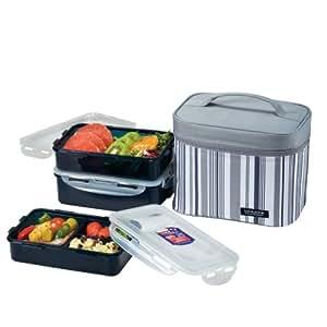 Lock & Lock Picnic Lunch Box Bento Set - HPL817DG, Gray (medium)