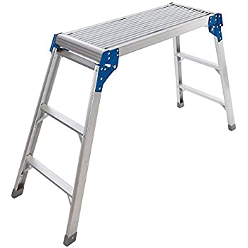 Brilliant Wolf Aluminium Folding Step Up Ladder Stool With Non Slip Squirreltailoven Fun Painted Chair Ideas Images Squirreltailovenorg