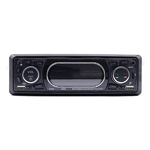 WEIWEITOE-DE Original Armaturenbrett Display Auto MP3 WMA AUX Radio Player Unterstützung USB Secure Digital Speicherkarte Funktion, Silber & schwarz,