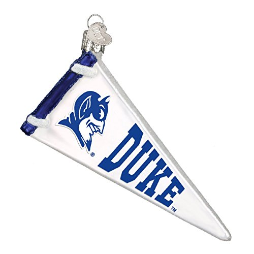Old World Weihnachten Duke Univeristy Glas geblasen Ornament Fähnchen Duke Blue Devils (Geblasenes Glas-ornamente)