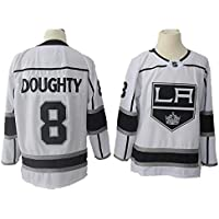 Yajun Drew Doughty#8 Los Angeles Kings Camisetas Hockey Jersey sobre Hielo NHL Hombre Ropa Respirable T-Shirt de Manga Larga,White,XL/54