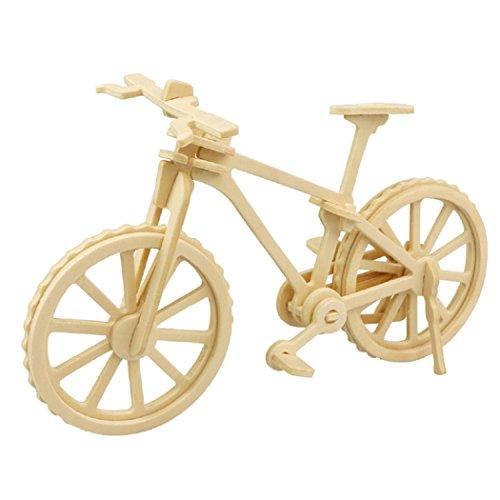 a02988fbdeed4d Günstig Axibo 3D Hölzern Puzzle Fahrrad Bausteine Bildungsmodell ...