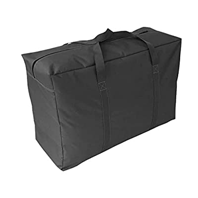 Handy Storage Bag Extra Large Waterproof Heavy Duty 600D Oxford Jumbo Storage Bag with Web Handle,Bedding Underbed Storage Bag,Blankets Duvet Chest,Season Laundry Organizer-Size 85*55*33CM