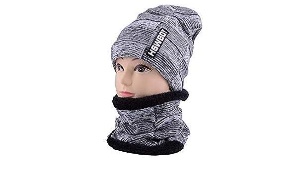 e36ceacda Mens Beanie Winter Hats for Women Beanies Neck Warmers Black Knit ...
