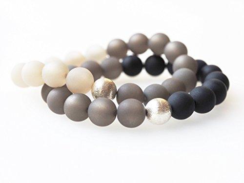Polarisarmband grau schwarz silber Armband