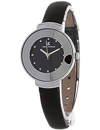 Ted Lapidus - A0500RBPN - Montre Femme - Quartz Analogique - Cadran - Bracelet Cuir Noir