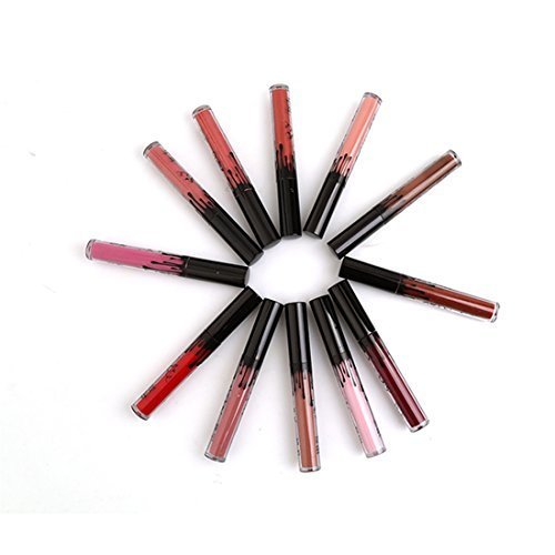 Liquid Lip Gloss (Cabet Waterproof Long Lasting Matt Liquid Lipstik Beauty Lip Gloss 12 Farben)