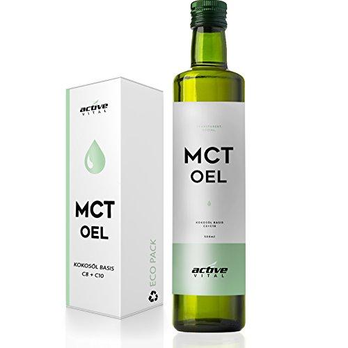 ACTIVEVITAL MCT Öl 500ml Neutral aus Kokos-Öl | Bulletproof Coffee | Caprylsäure (C-8) und Caprinsäure (C-10) | Vegan