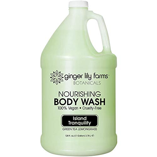 Ginger Lily Farms Botanicals Body Wash Gallon, Green Tea and Lemongrass, 128 Fluid Ounce by Ginger Lily Farms -