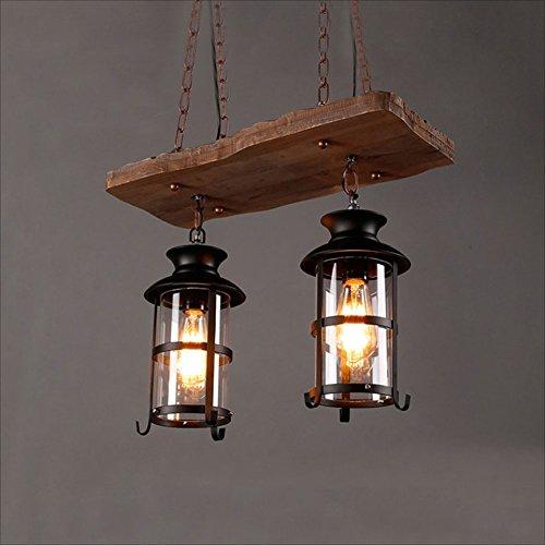 Industrieller Leuchter-Retro- hölzerne Pendelleuchten für Restaurant-Kneipen-Bar-dekorative Lampe (Hölzerne Lampe)
