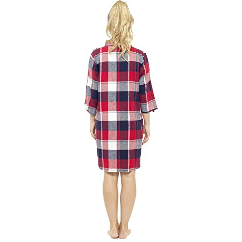 Style It Up -  Camicia da notte  - Donna Navy/Red Check