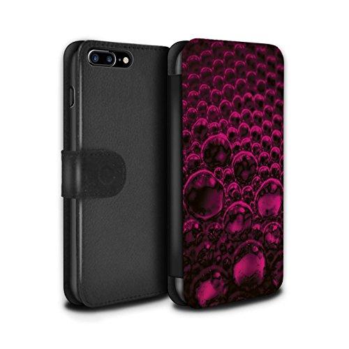 Stuff4 Coque/Etui/Housse Cuir PU Case/Cover pour Apple iPhone 7 Plus / Rouge Design / Bulles/Gouttelettes Collection Rose