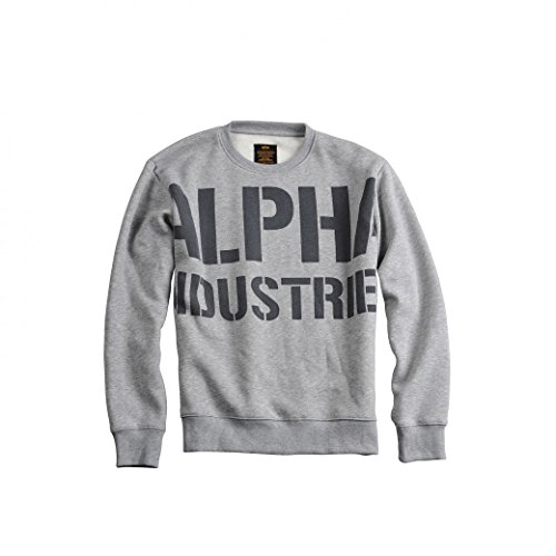 Alpha Industries All Over Sweater Greyblack