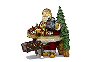 Father Christmas with Sack of Gifts /& Tree Resin Statue