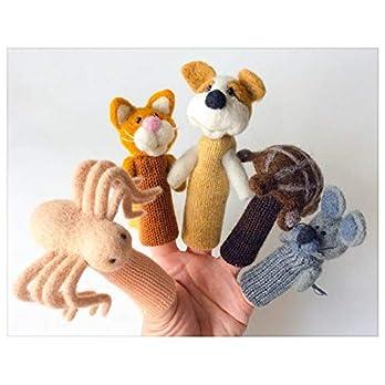 Pets – viele Fingerpuppen aus Filzwolle