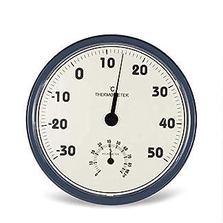 LLT Inteligente Y Preciso Cubierta Termómetro Al Aire Libre, Analógica Termo Higrómetro 2 en 1 Pantalla Grande Que Cuelga de la Estación Meteorológica Del Hogar Del Higrómetro Del Termómetro de Pared