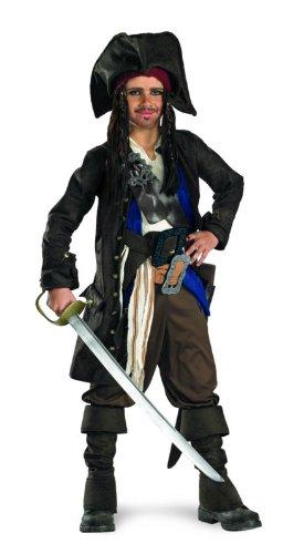 Disguise Captain Jack Sparrow Kostüm Kinder Prestige Premium-L (38-40)