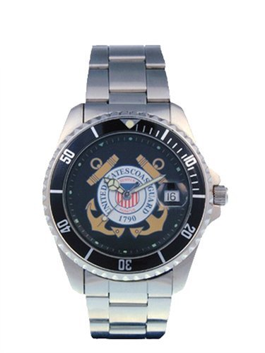 Del Mar 50498 Mens Coast Guard Military Uhren - Edelstahl