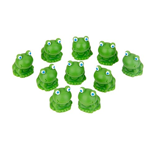 10 Mini PuppenHaus Bonsai Handwerk Garten Dollhaus DIY Blau Auge Frosch Dekor