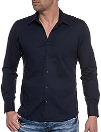 BLZ jeans - Chemise chic bleu unie