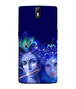 Samken Radha Krishna Glowing Designer Printed Mobile Phone Back Cover Case For One Plus One/OnePlus 1