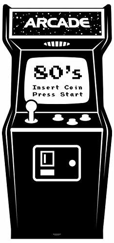 Star Einbauöffnungen Golden Age schwarz und weiß-Video Arcade Karton Ausschnitt, Mehrfarbig