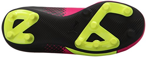 Puma EvoSPEED 5.5 Tricks FG Jr Soccer Cleats Cuir Baskets Pink Glo-Safety Yellow-Black