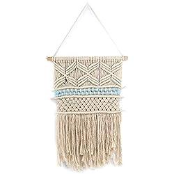 Macrame tapiz colgante de pared Boho