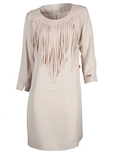 10 FEET Damen Kleid mini kurz - Lyocell - beige linen M