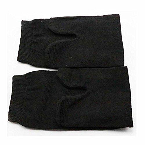 3 Paar Unisex Japanische Kimono Socken von GOOTRADES Flip Flop Sandale Split Toe Tabi Ninja Geta (Schwarz)