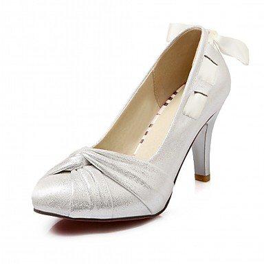 Talloni delle donne Primavera Estate Autunno Dress Comfort in similpelle ufficio & carriera Stiletto Heel Casual Blu Rosso Oro del nastro Fuchsia