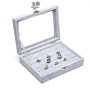 Portagioie velluto con coperchio/ scatola di immagazzinaggio di gioielli/ scatola regalo orecchino/ contenitore di anello/ Visualizza elementi-M