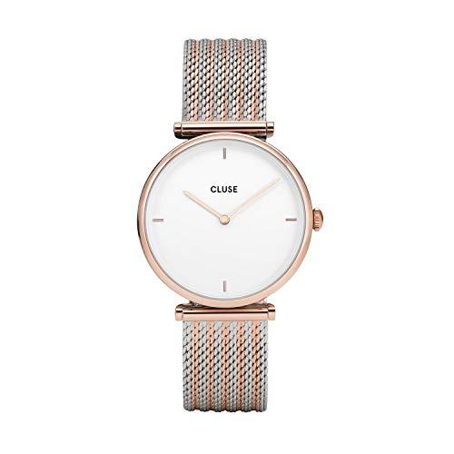Cluse Damen Analog Quarz Uhr mit Edelstahl Armband CL61003