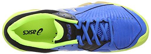 Asics Gel-domain 3, Herren Handballschuhe Electric Blue/Silver/Neon Yellow