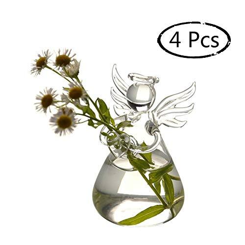 Kreativer Engelvase, Durchsichtiger Wasserbehälter Aus Glas Für Planzen, Hänge Blumenvase Für Wohnzimmer Und Hof, 4Pcs/set -