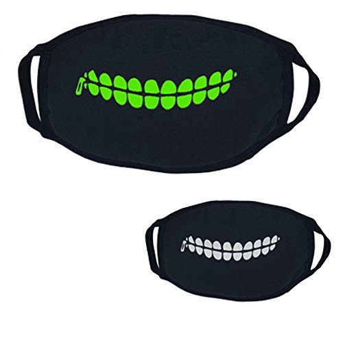 arz Halloween Party Luminous Geisterschädel Half Face Scary Horror Maske Ekelhafte Gesichtsmaske Terror Schal Halswärmer Gesichtsmaske schönheits OP schöne Haut schönheit Kunst ()
