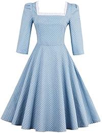 Dissa M1518 Damen Rockabilly 50er Vintage Retro Kleid Partykleider Cocktailkleider