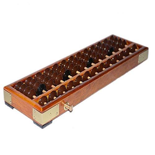 Qztg calcolatrice metallo analogico strumento forma antica calcolatrice perla cornice in legno calcolatrice